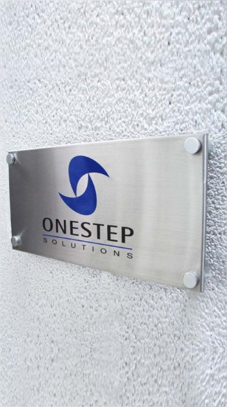 Steel Name Plate - Office